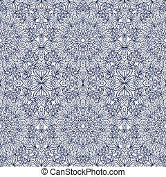 mandala, 民族的な黒, seamless, バックグラウンド。, pattern., 種族