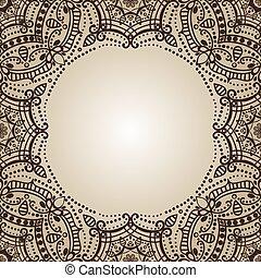 mandala, 民族, バックグラウンド。, 東洋, pattern., henna