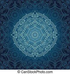 mandala, 民族, 背景, 東洋, pattern.