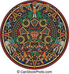 mandala, aztèque