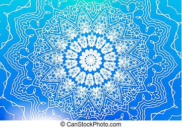 mandala background vector - Mandala - simple thin line...