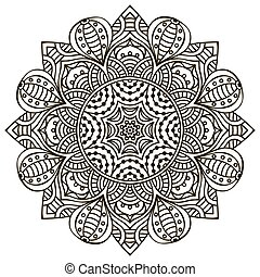 Mandala background. Vintage decorative elements. Hand drawn...