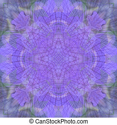 Mandala, bakgrund, violett