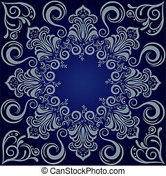 Mandala blue background