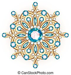 Mandala brooch jewelry, design element. Tribal ethnic floral...
