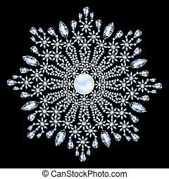 Mandala brooch jewelry, design element. Tribal ethnic floral...