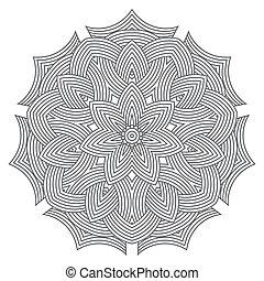 mandala, celta, cartão, padrão, amuleto, nó