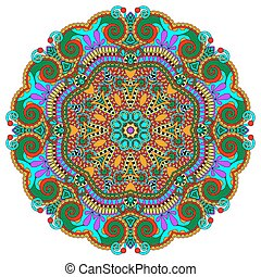 mandala, circle decorative spiritual indian symbol of lotus
