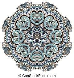 mandala, circle decorative spiritual indian symbol of lotus flow