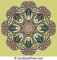 mandala, circle decorative spiritual indian symbol of lotus...