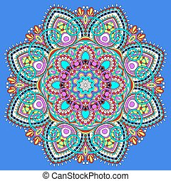 mandala, circle decorative spiritual indian symbol of lotus ...