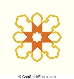Mandala Classic Cross Geometric Symbol Illustration Graphic Design