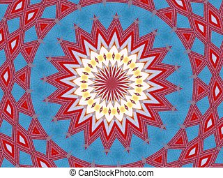 mandala cloth - pattern, mandala look like image made from...