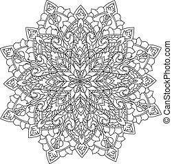 mandala, coloração, ilustração