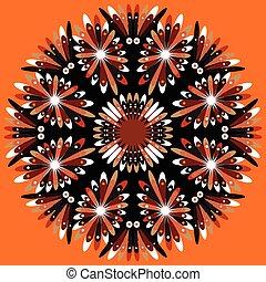 Mandala. colored Vintage decorative elements.