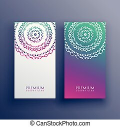 mandala colorful card banner design
