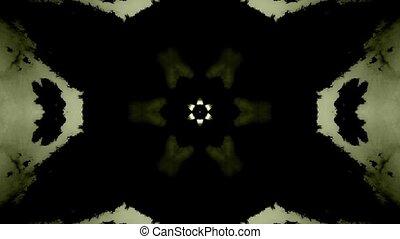 Mandala. Colorful kaleidoscopic video pattern. Symmetrical multicolored pattern.