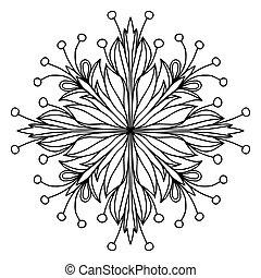 Mandala coloring page doodle