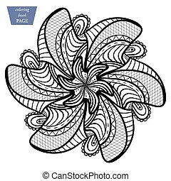 Mandala. Coloring page. Vintage decorative elements. Oriental pattern, vector illustration b