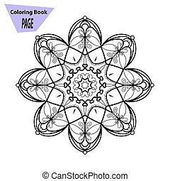 Mandala Coloring Page Vintage Decorative Elements Oriental Pattern Vector Illustration