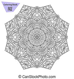 Mandala. Coloring page. Vintage decorative elements. Oriental pattern, vector illustration. Islam, Arabic Indian turkish pakistan chinese ottoman motifs b