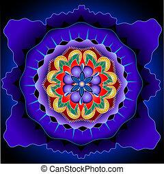 Mandala core - symmetrical elements forming a mandala