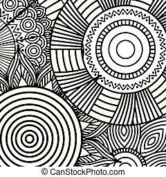 mandala decorative ethnic element adult coloring design