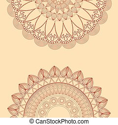 mandala decorative oriental tribal