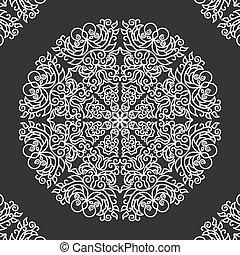 mandala, dekservet, ornament, kant, ronde
