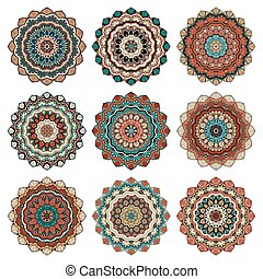 Mandala design element vector 2