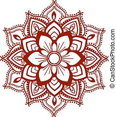 Mandala design ,geometrically aligned .