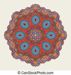 Mandala design. Mandala, circular ornament