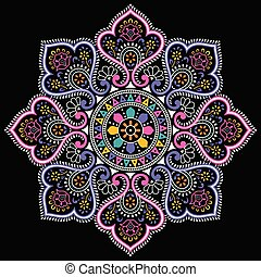 Mandala design on black background