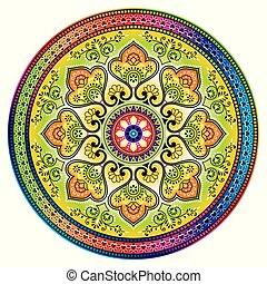 Mandala design on white background