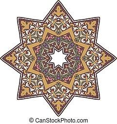 mandala, diseño, indio, ilustración, étnico