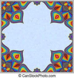 mandala, disegno, cornice, orientale, pattern.