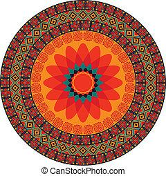 Mandala - Colorful abstract mandala vector design