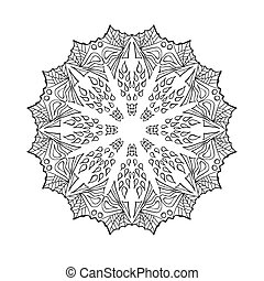 Mandala. Ethnic abstract decorative elements.