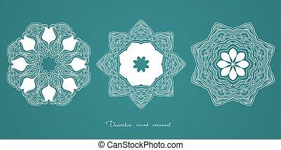 Mandala. Ethnic decorative elements Indian, Islam, arabic motifs