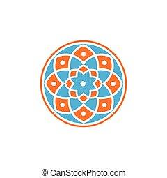 mandala Floral circle logo vector element. floral logo template