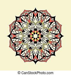 Mandala. Floral ethnic abstract decorative elements