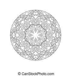 Mandala. Floral ethnic abstract decorative elements. Hand...