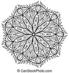 Mandala flower coloring raster for adults - Mandala flower...