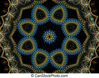mandala, fractal, fondo