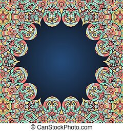 Mandala frame for text in oriental style.