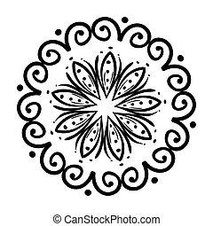 mandala icon on white background