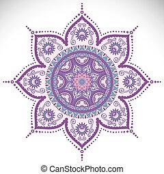 Mandala - Vector Mandala. Round ornament in ethnic style....