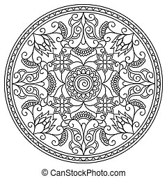 mandala in floral style
