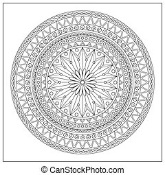 mandala in oriental motifs - Mandala with hand drawn...