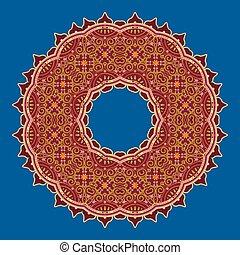 mandala in Oriental style. Vector